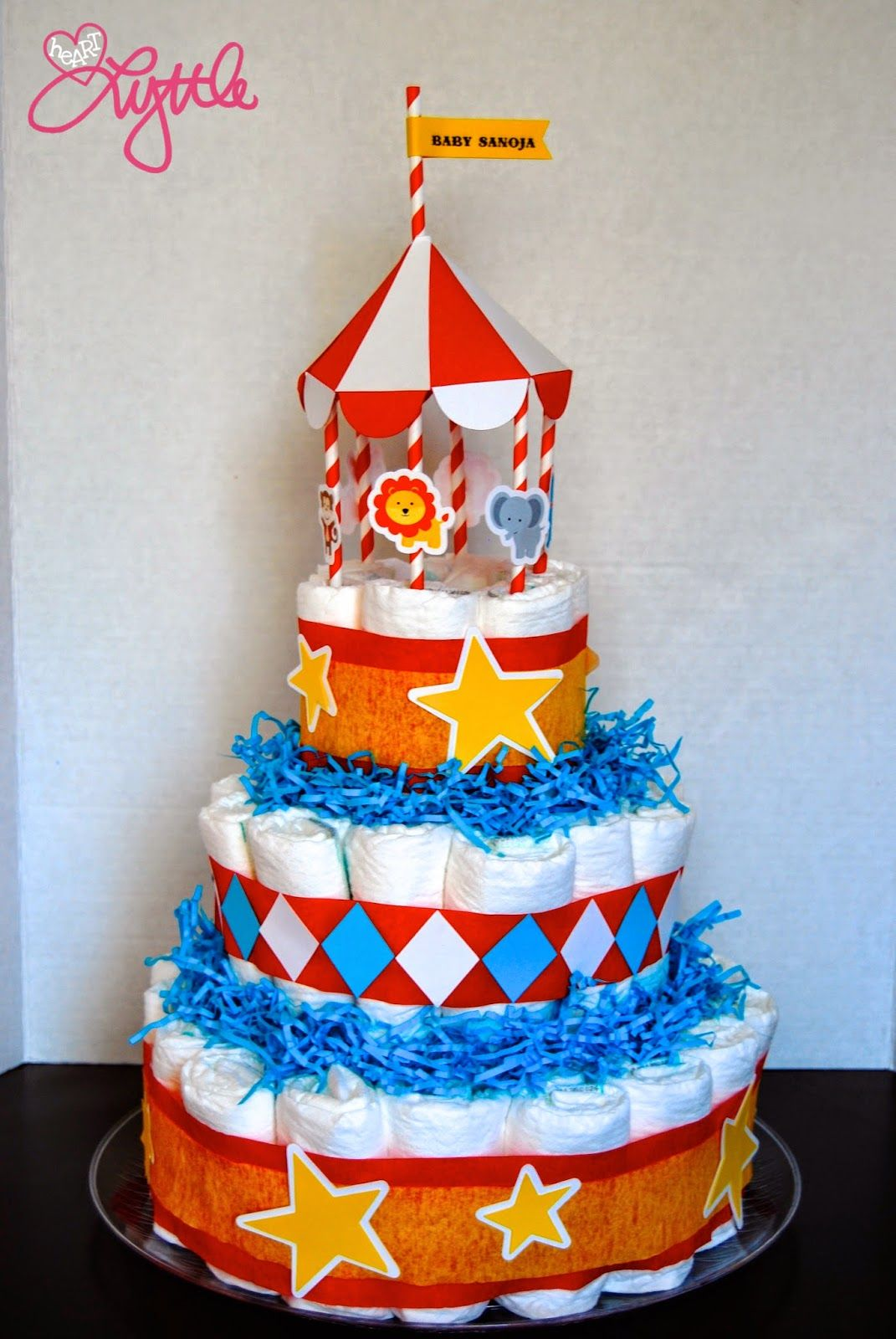 he{ART} lyttle: circus themed diaper cake