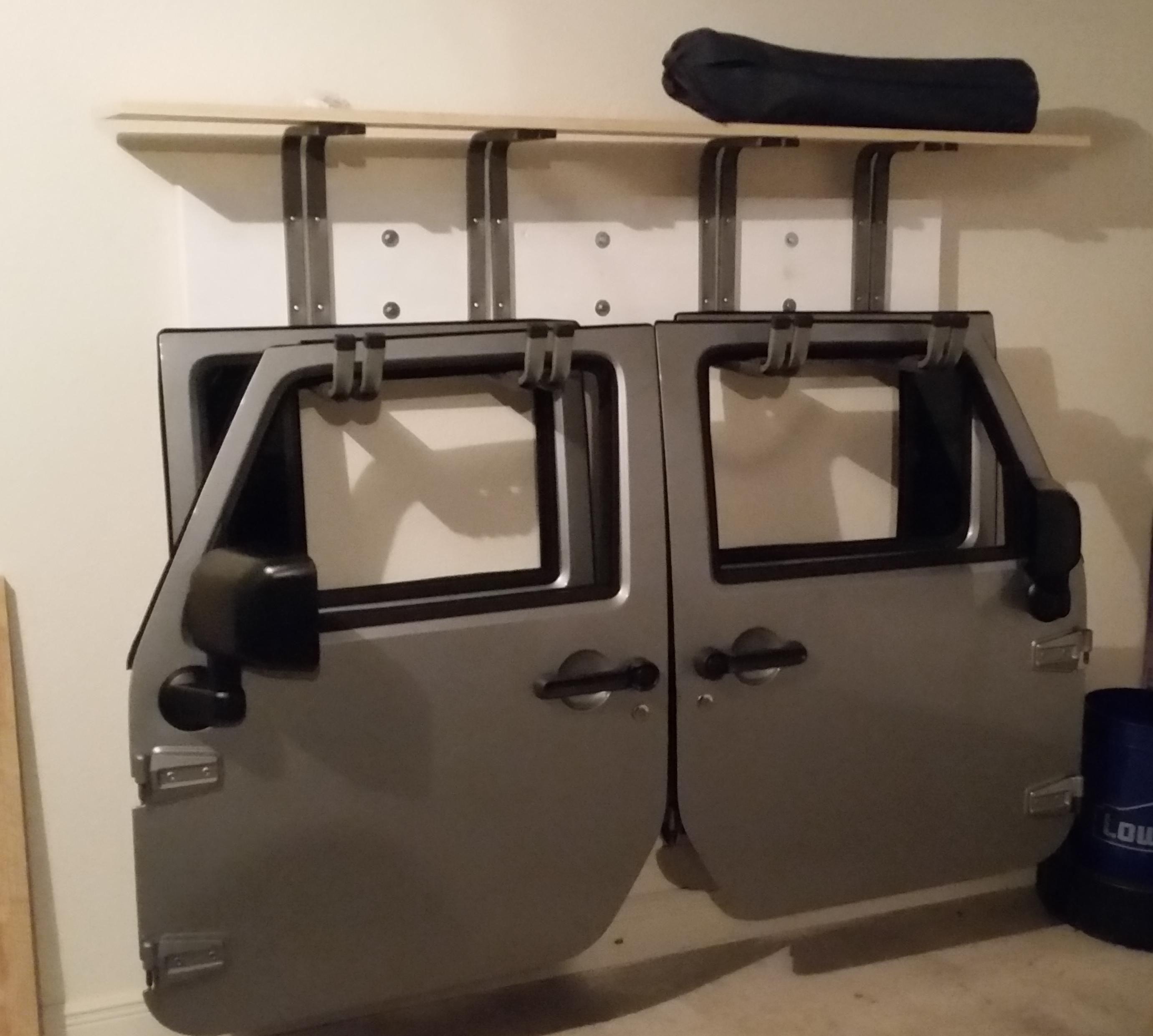 Jeep Rack For Doors Jeep Doors Jeep Garage Jeep Hacks