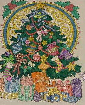 ColorIt Free Coloring Pages Colorist: Susann Reinhart #adultcoloring #coloringforadults #adultcoloringpages #christmas #christmaspages #holidaycoloring