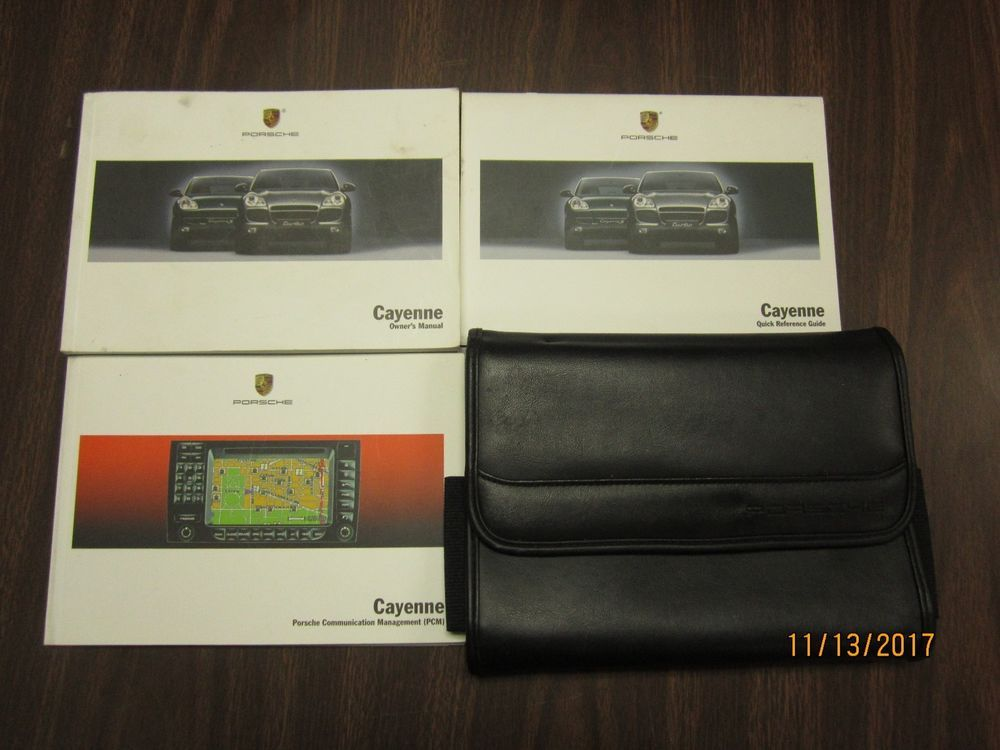 03 06 porsche cayenne original owners manual book booklet w case rh pinterest com porsche cayenne 2012 owner's manual porsche cayenne 2016 owner's manual