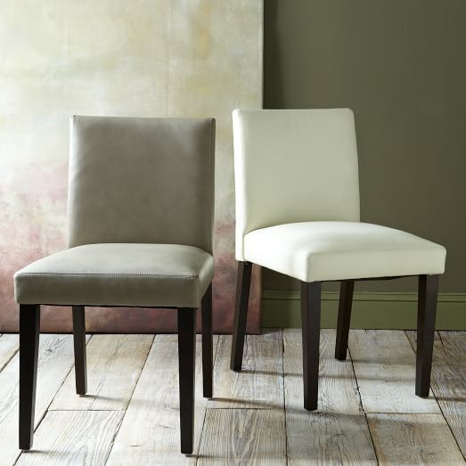 """Porter Leather Chair  Elephant Gray Leather  19""""w X 235""""d X 34 Custom Side Chairs Dining Room Design Inspiration"""