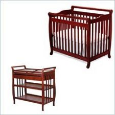 Cherry Wood Baby Crib And Changing Table. Www.pronto.com