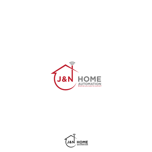 J & N Home Automation - Simple, Bold and Elegant Home Automation Logo!