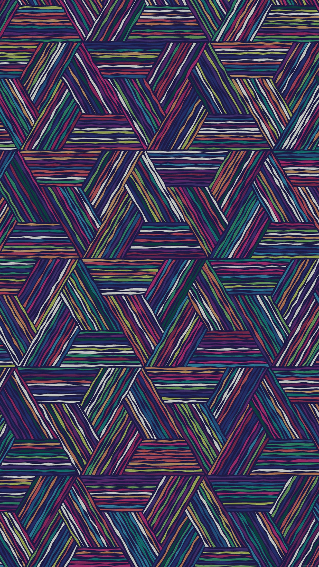 Hd wallpaper art - Triangle Colored Lines Digital Art Pattern Iphone 6 Plus Hd Wallpaper