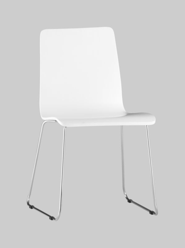 echo white chair in dining chairs, barstools | CB2
