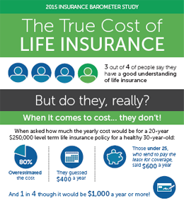 The True Cost Of Life Insurance 2015 Life Insurance Awareness