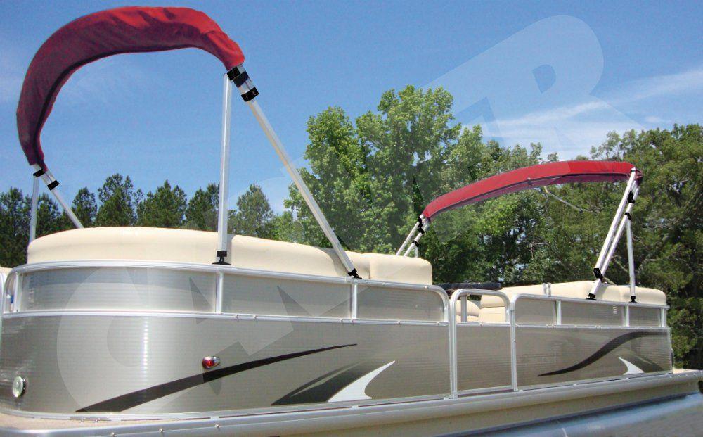 Dual 16' Square Tube Pontoon Top - Designed for pontoons 22' or
