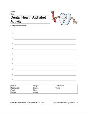 10 Arbeitsblätter, die Kindern die Grundlagen der Zahngesundheit beibringen   – Party Ideas