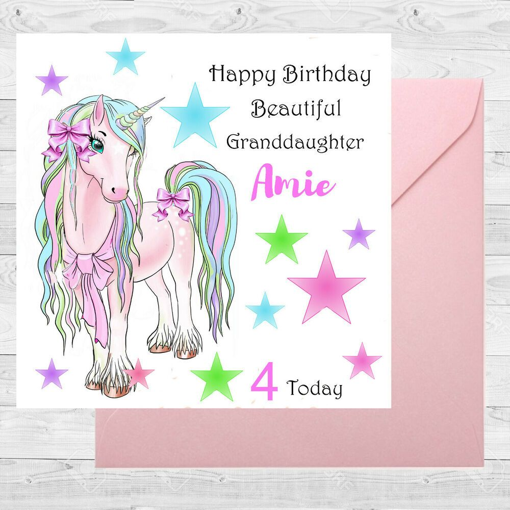 Personalised Birthday Card size 6x6 /1st/2nd/4th