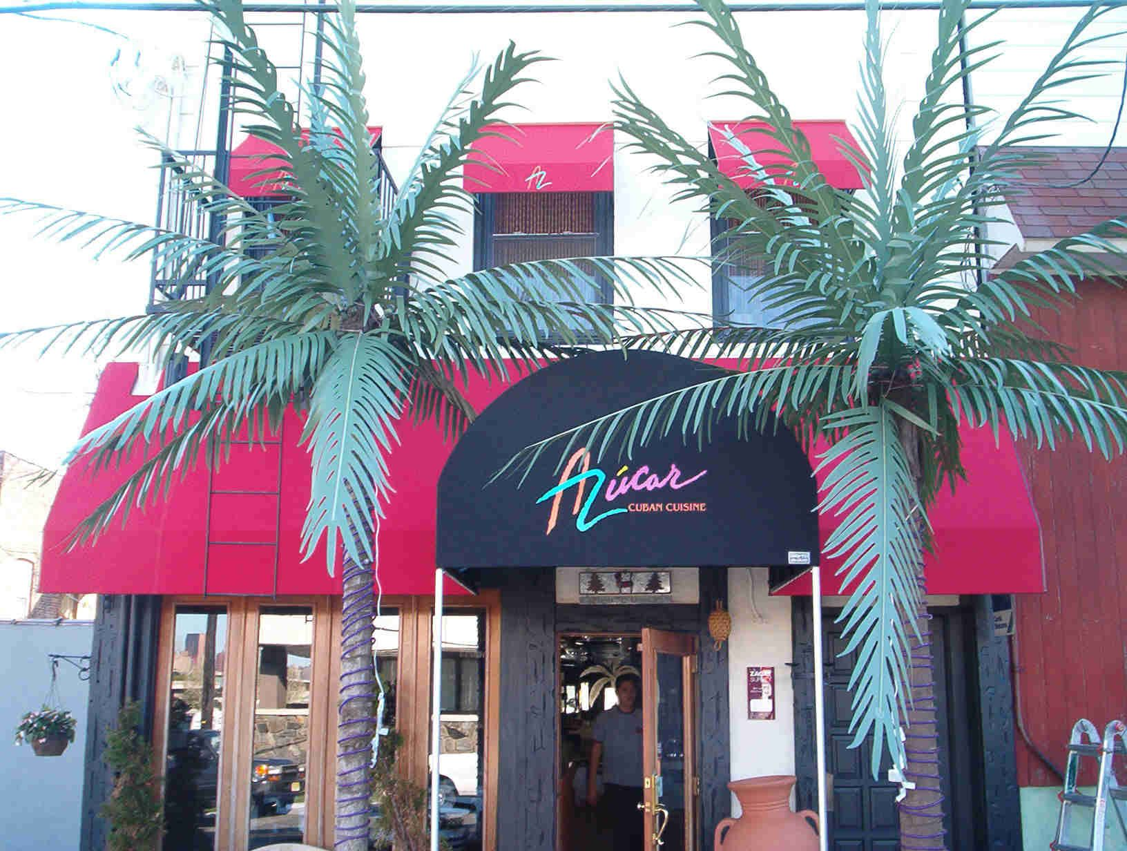 Jazzy Red Awnings For A Popular Restaurant Fabricated And Installed By Hudson Awning Sign Neon Signs Installation Awning