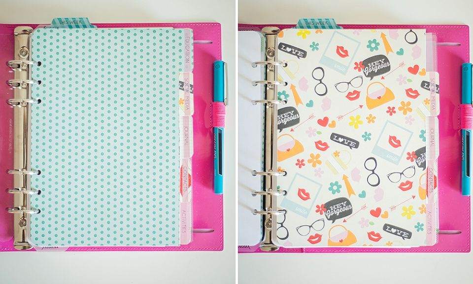 DIY DIVIDERS (A5 FILOFAX) » Keep Calm and Plan On