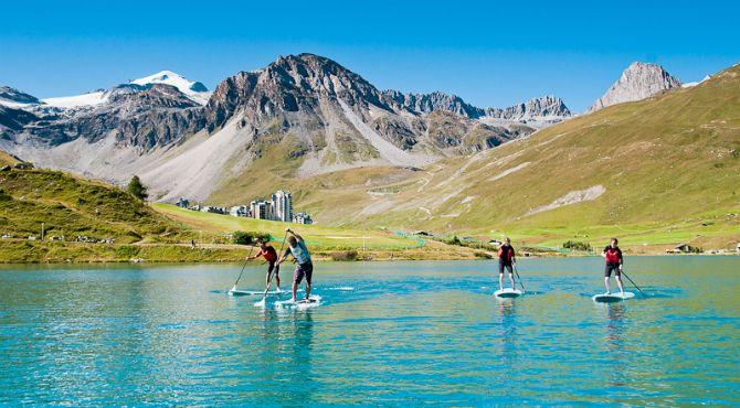 Tignes France Lac De Tignes En Ete Paddle France Photos French Alps France