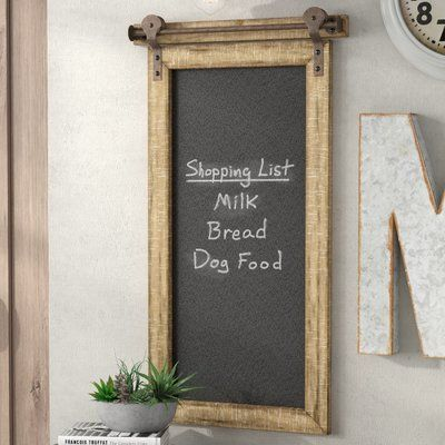 Williston Forge Wall Mounted Chalkboard Chalkboard Wall Decor Chalkboard Wall Kitchen Primitive Decorating