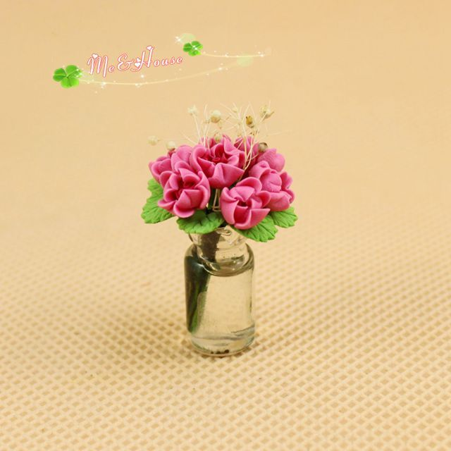 Find More Information About 1 12 Dollhouse Miniature Glass Vase Clay