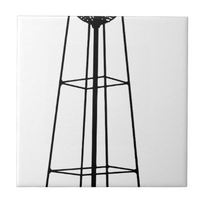 Tall Water Tower Ceramic Tile - barn gifts style ideas unique custom