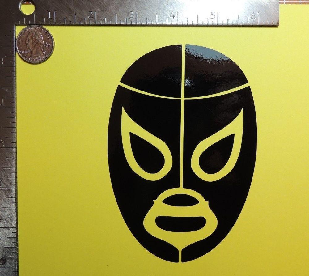 El Santo Lucha Libre Mexican Wrestling Mask Die Cut Vinyl Decal - Die cut vinyl decal stickers