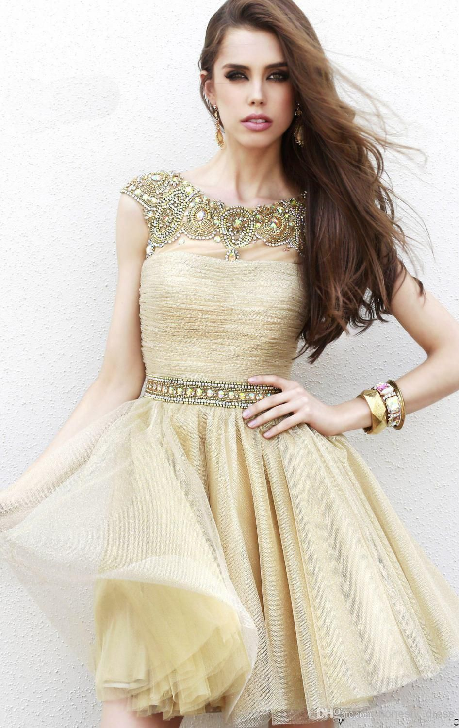 HOMECOMING DRESS http://www.dhgate.com/product/2014-champagne-homecoming-dress-tulle-sheer/207981020.html.html