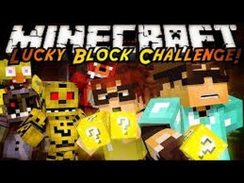 LUCKY BLOCK CASTLE CHALLENGE - Minecraft Mod Minigame