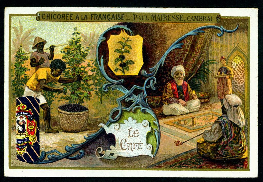 Chicoree - Drinks - Coffee. French tradecard c1900.