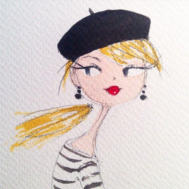 Warming up for a new Parisienne project. #paris #french #sketch Peinture Acrylique, Peinture Dessin, Fille Parisienne, Art Figuratif, Sculptures Artistiques, Joujou, Jolie Dessin, Dessins Faciles, Dessin De Mode