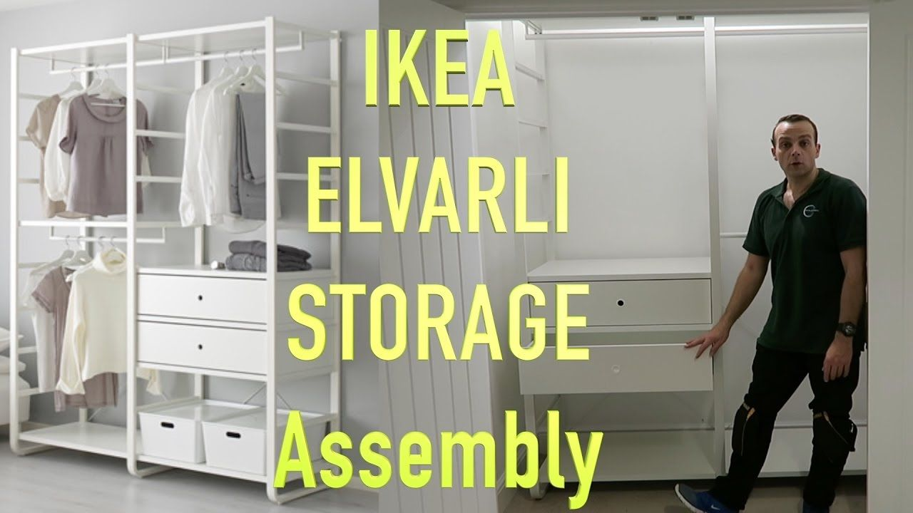 Ikea elvarli wardrobe assembly closet schrank wohnen for Elvarli ikea hack