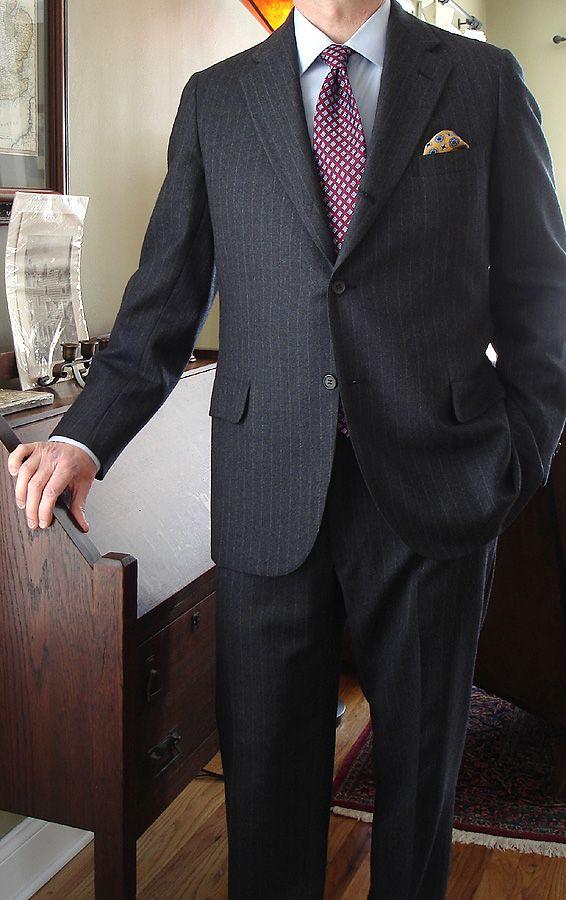952d37e5cf449 Vintage Southwick 3 2 flannel sack suit for Van Boven of Detroit Ann Arbor   Brooks Brothers pinpoint oxford