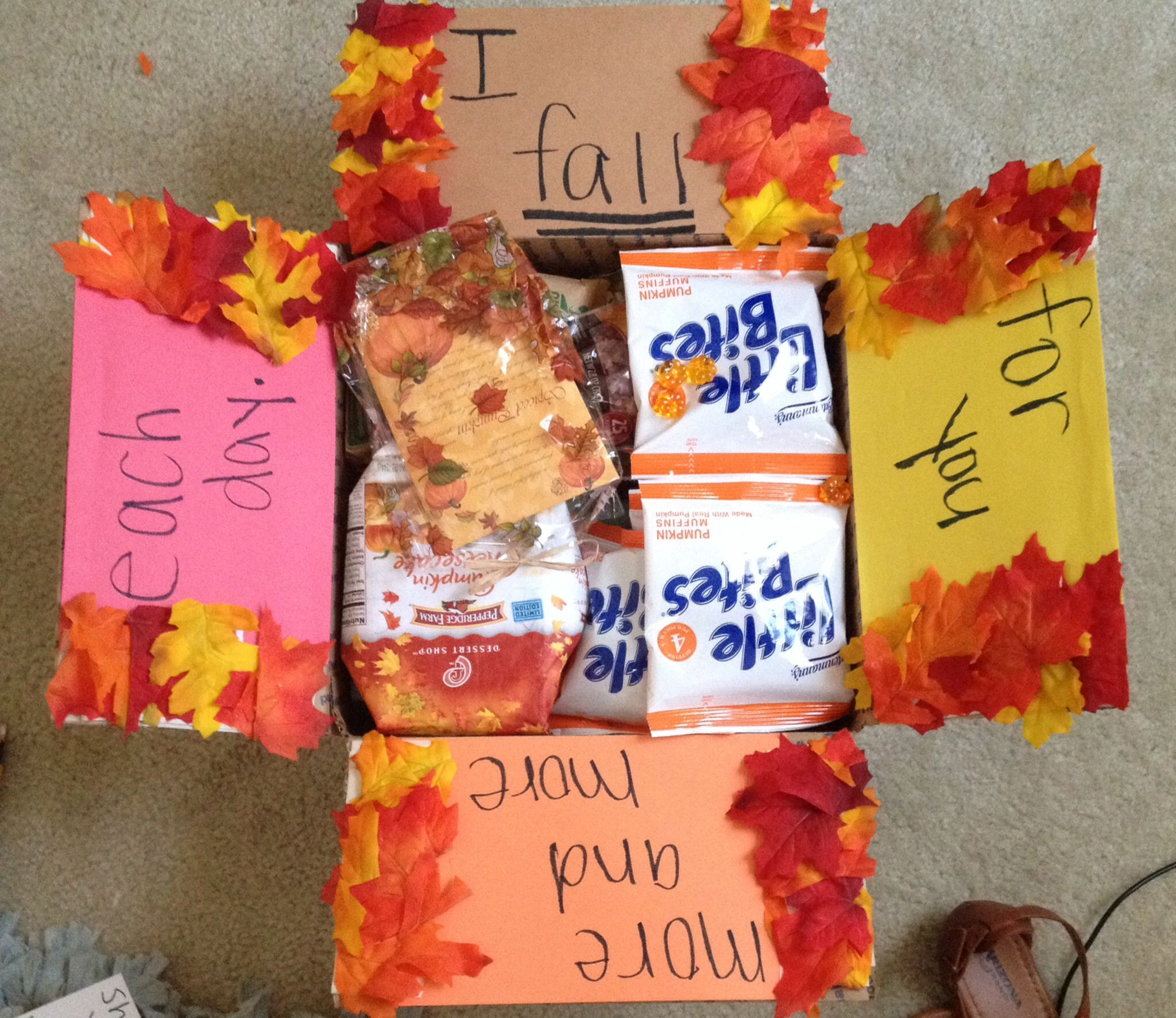 Fall Themed Military Care Package! #navy #army #marines
