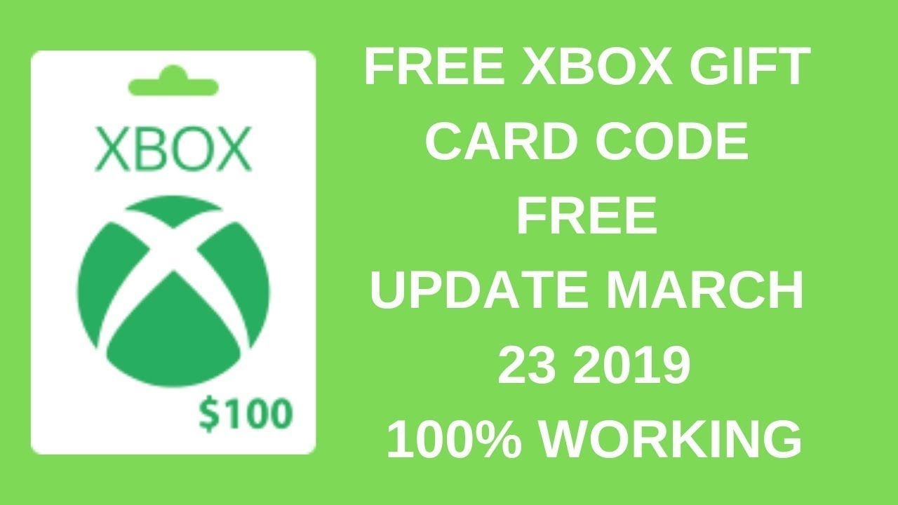 100% WORKING    Get Free XBOX Gift Cards Unused Code Free At