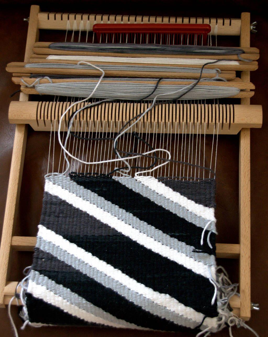 Webrahmen beim Weben mit verkürzten Reihen | Crafting Weaving ...
