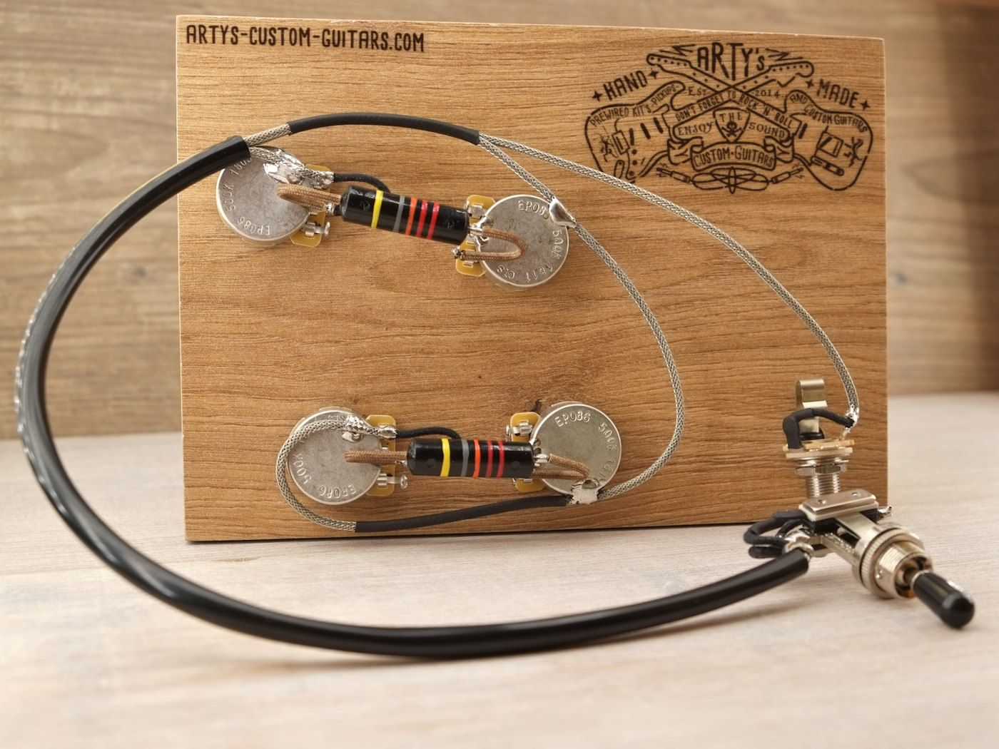 Es 175 295 50s Prewired Harness With Bumble Bee Or Black Gibson 335 Wiring Artys Custom Guitars Assembly Kit