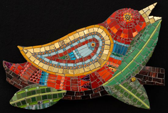 mosaic bird by Irina Charny