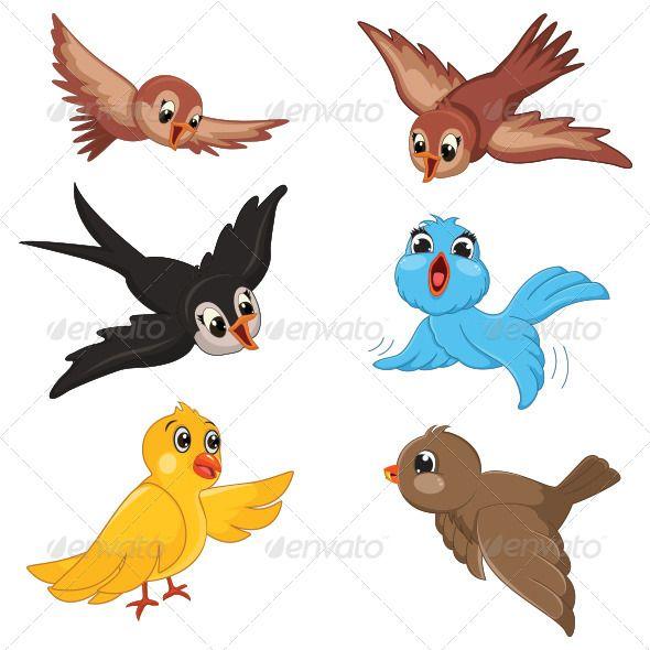 Birds Vector Illustration Cartoon Birds Australian Animal Nursery Animal Clipart
