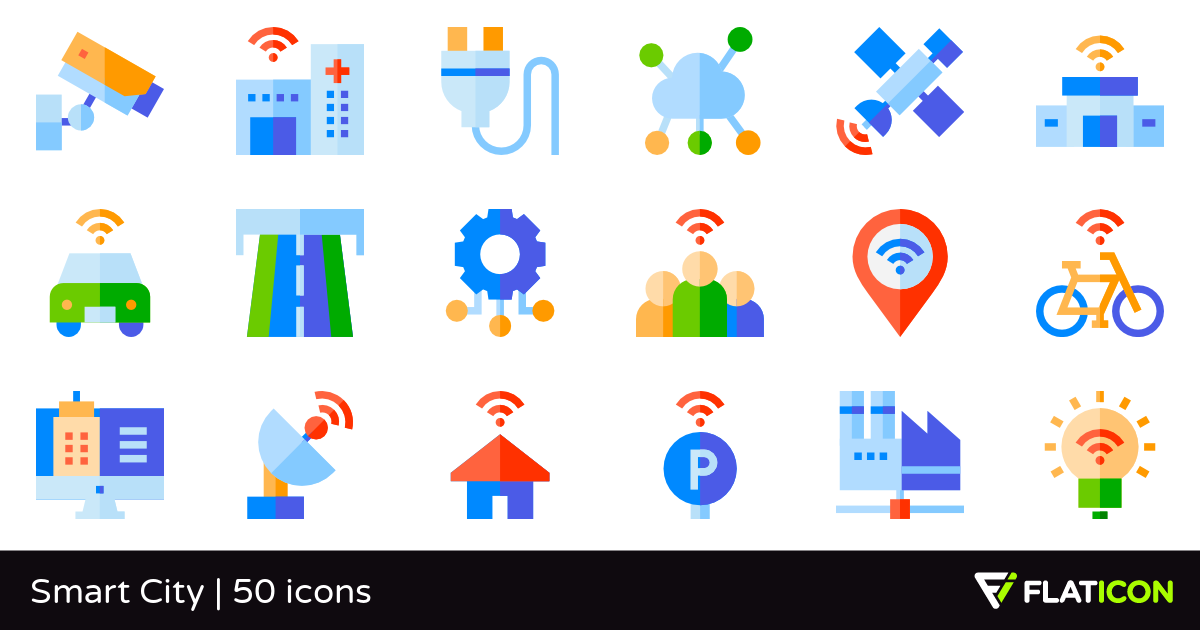 50 Free Vector Icons Of Smart City Designed By Freepik Smart City City Design Vector Free