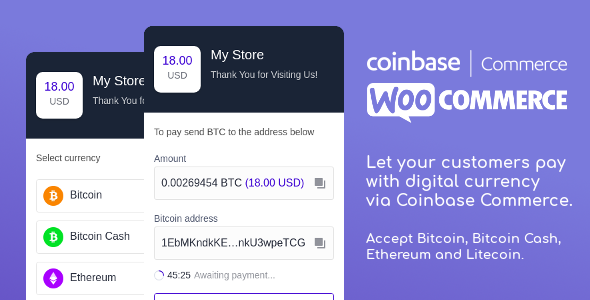 Coinbase Commerce for WooCommerce Nulled | Nulled Wordpress Themes