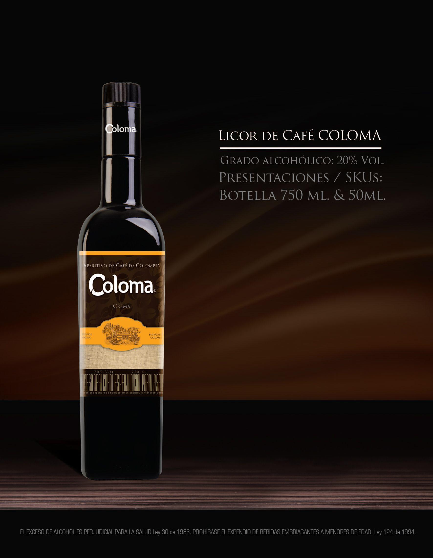 COLOMA LICOR DE CAFE LIQUOR COFFEE