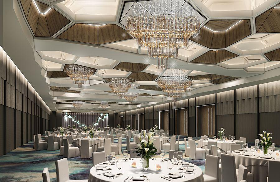 Hold Your Dream Wedding Banquet At Pan Pacific Singapore S Newly Refurbished Pacific Ballroom Ballroom Design Hotel Interior Design Hall Interior