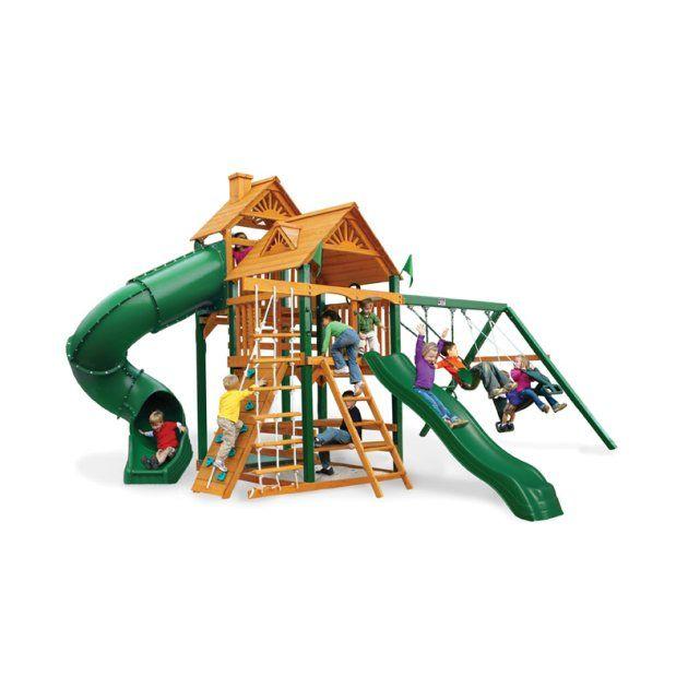 Gorilla Playsets Big Skye I Wood Swing Set - Swing Sets at ...