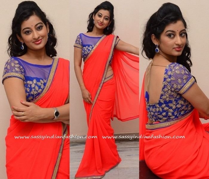 195c762580500c Style Orange Saree with Blouse Border and Blouse