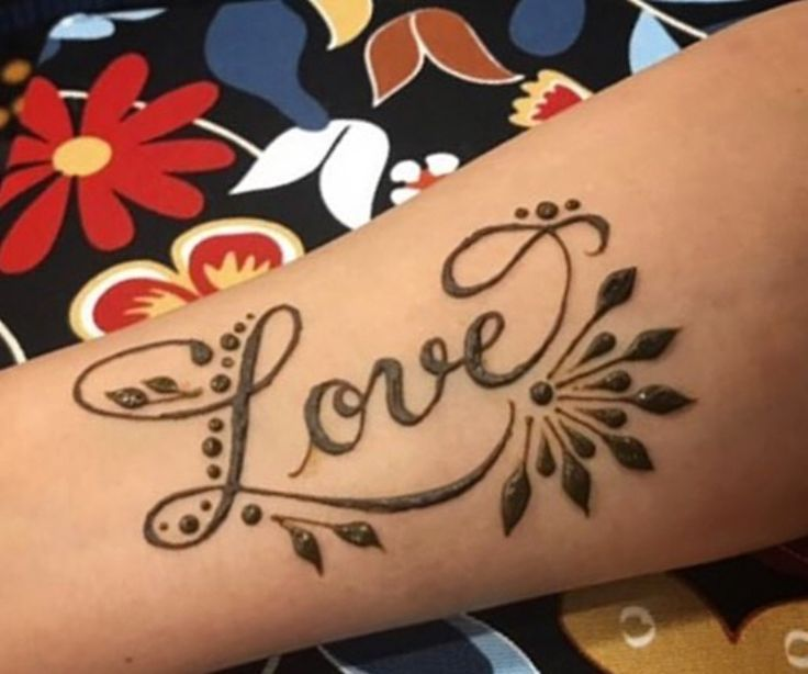 Lovely Lettering Love Henna Tattoo Henna Lettering Love Tattoo Henna Tattoo Designs Simple Henna Tattoo Designs Hand Henna Tattoo Designs