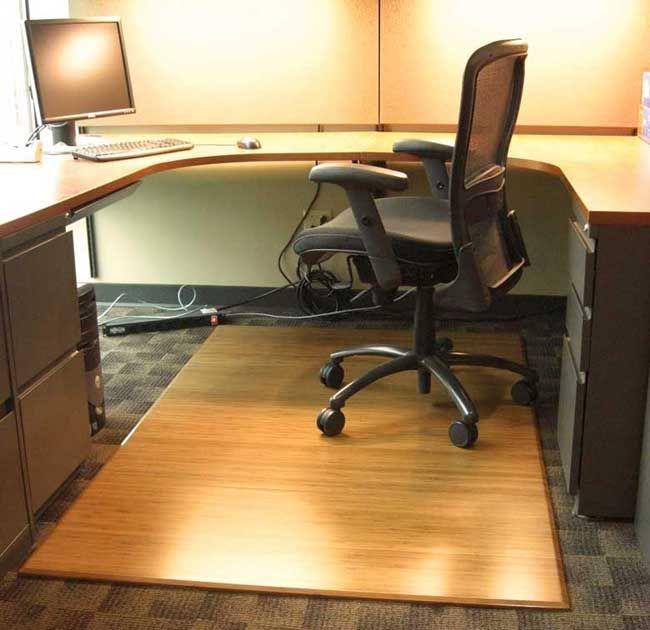 Eco Friendly Bamboo Chair Mat Office