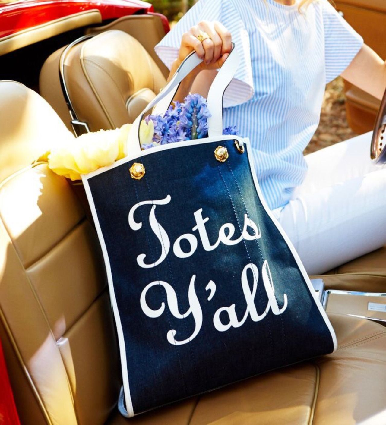 Totes Y'all! Tote bag. Too cute! https://www.draperjames.com/totes ...