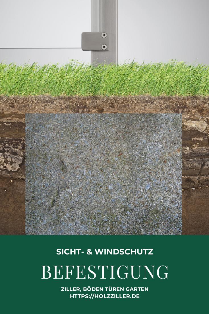 Sicht Und Windschutz Aus Glas Hochwertiges Material Zur