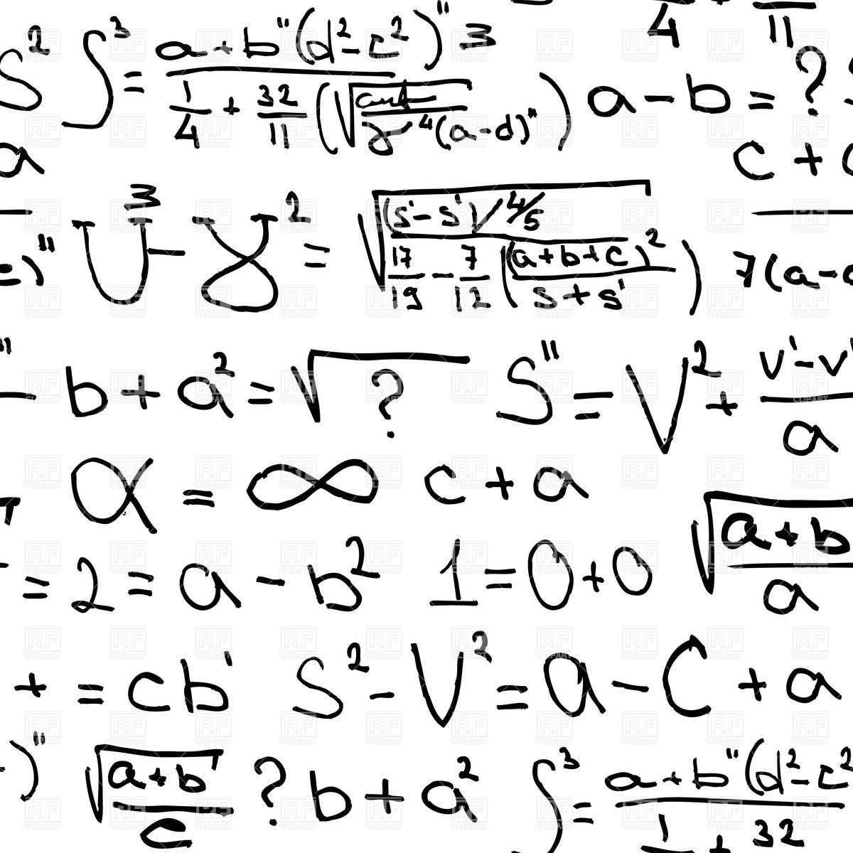 Algebra Equations Clip Art