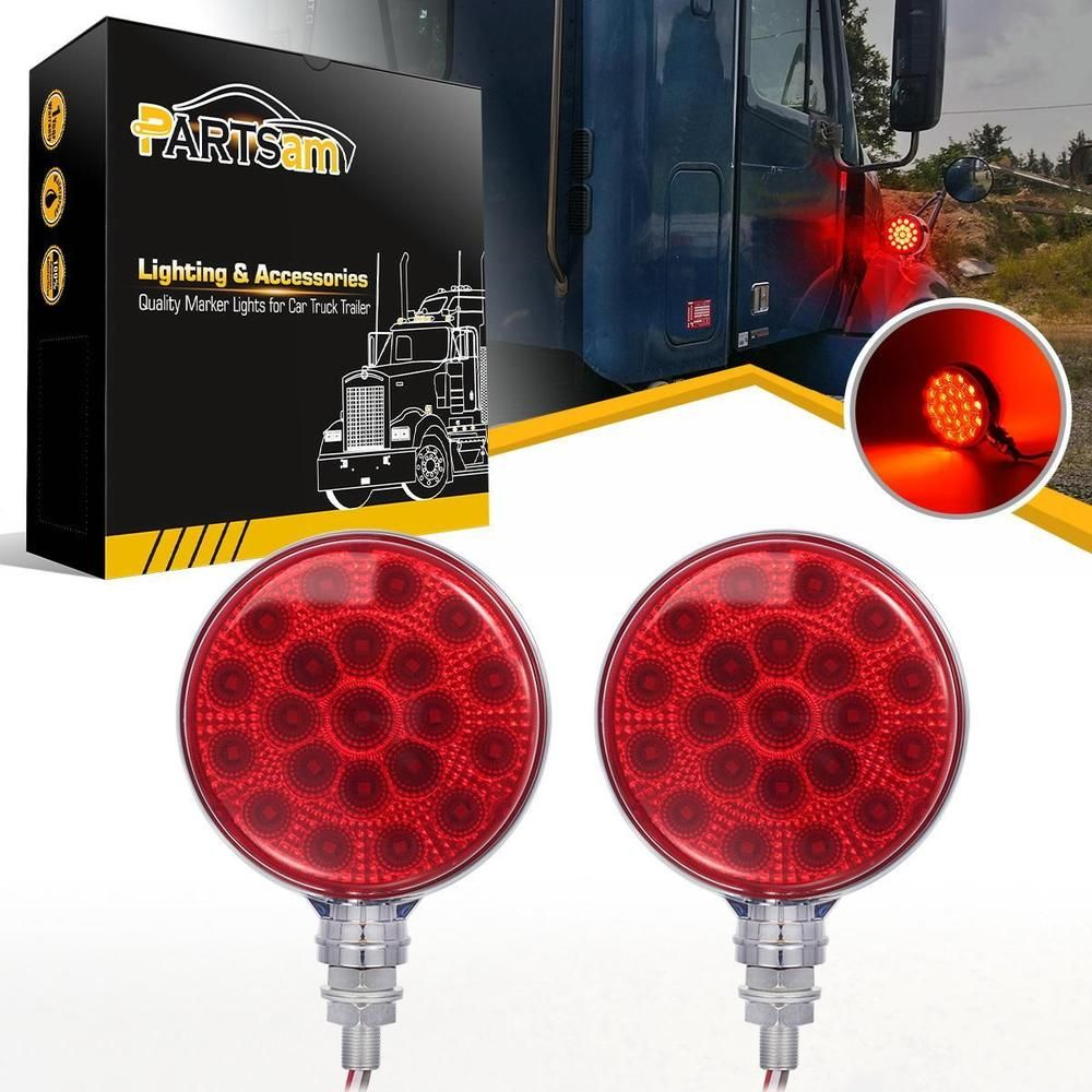 Red Round Trailer Light Serves 3 Functions Stop Turn And Tail Light Perfect Lights To Mount On Your Truck Or Trail Truck And Trailer Lights Semi Trucks