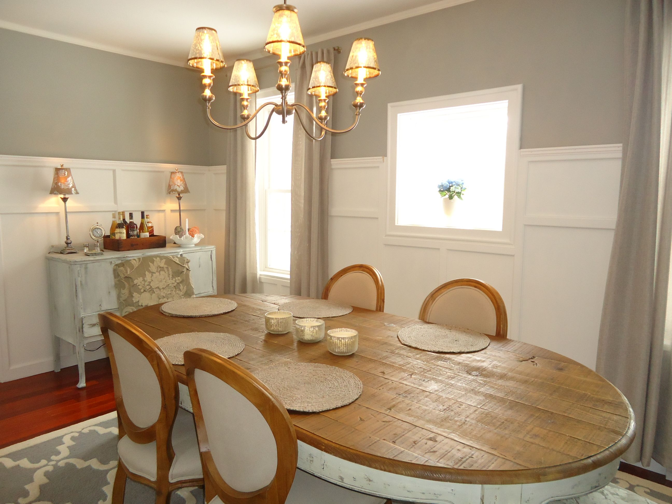 Enjoyable Finally Chose A Warm Gray Color For Dining Area Home Interior And Landscaping Pimpapssignezvosmurscom