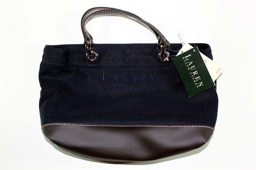 bcd93b656a5 RL Ralph Lauren Canvas Leather Rugged Carryall Tote Purse Handbag Bag  Vintage  RalphLauren  Tote