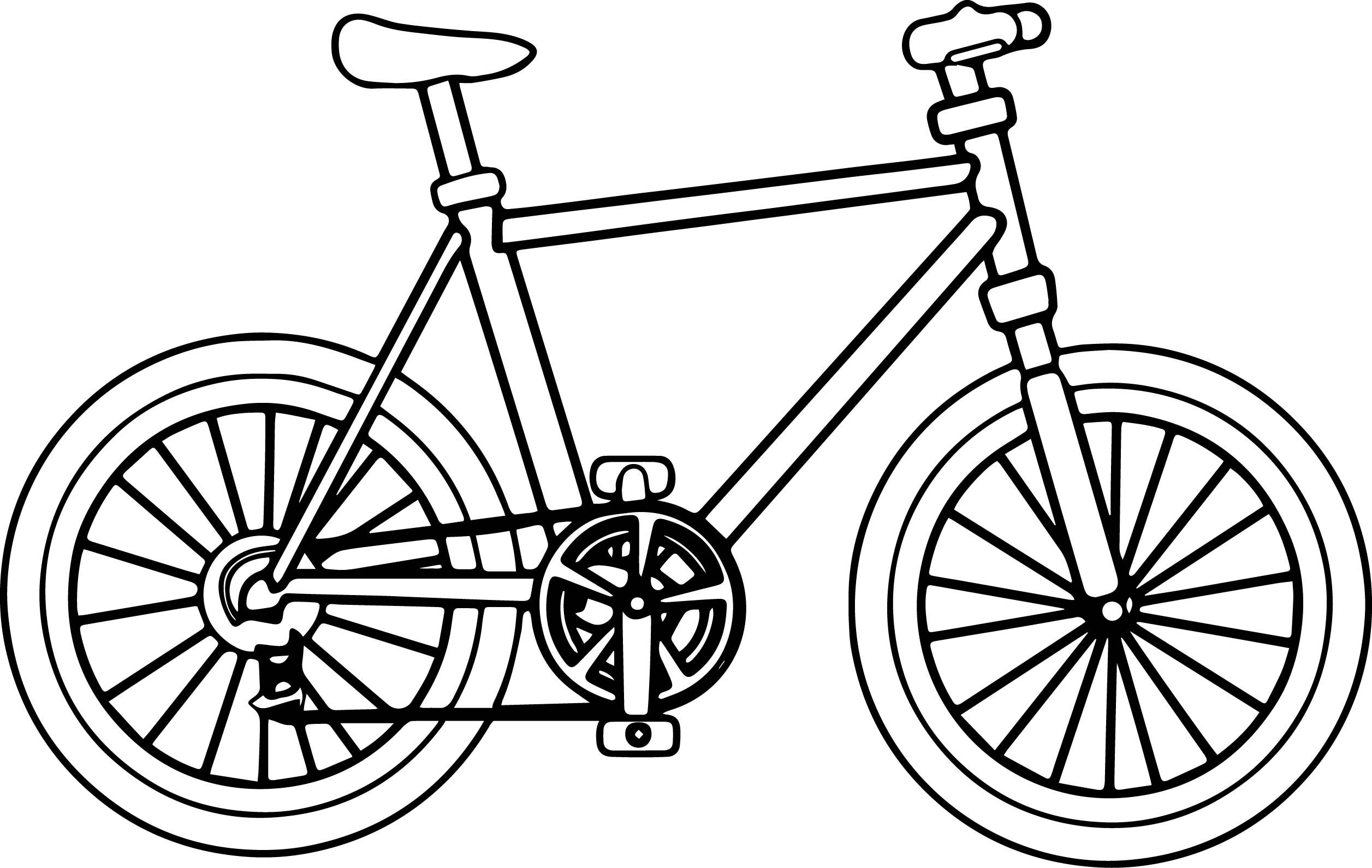 Awesome Big Bike Biycle Coloring Page