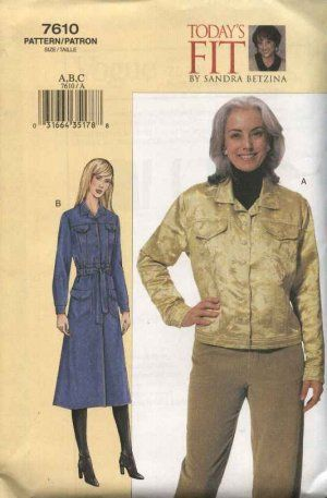 Vogue Sewing Pattern 7610 Womens Plus Size 24W-32W Sandra Betzina ...