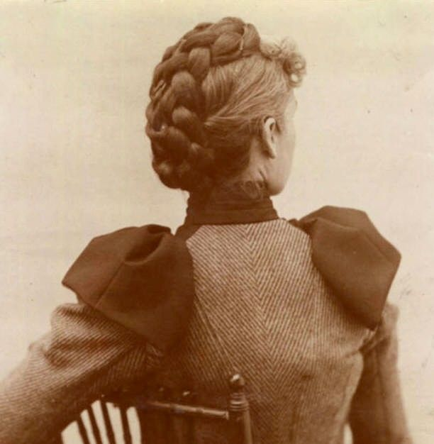 different braid styles for hair with a braided updo c 1890s mode 1890 6617