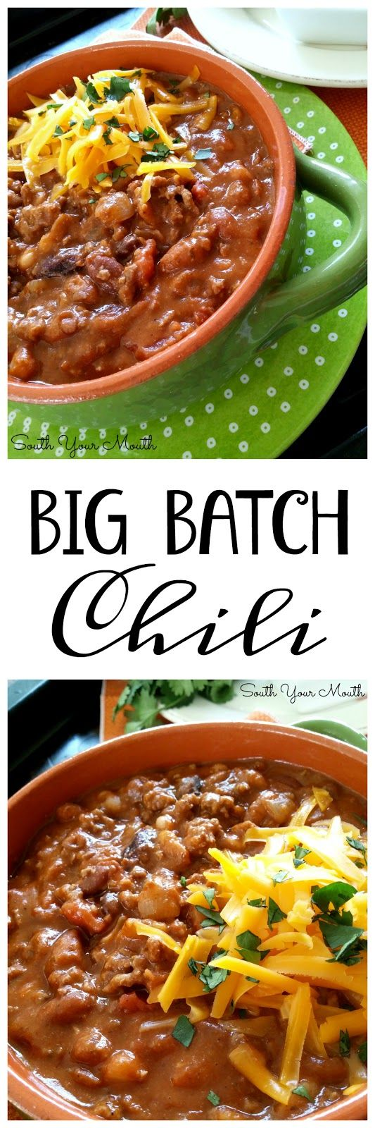 Big Batch Beef Bean Chili Chilli Recipes Cooking Recipes Beef Bean Chili Recipe